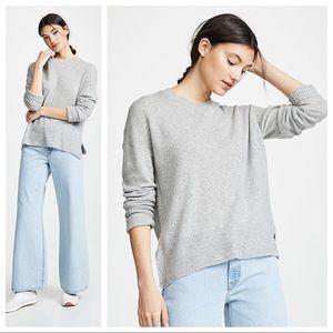 Theory Karenia Cashmere Sweater Flint Grey Sz M